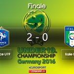 #EuroU19 | #FRAITA Léquipe de France domine et mène au score à la mi-temps ! Buts dAugustin et de Ludovic Blas. https://t.co/S5VX4UrMxK