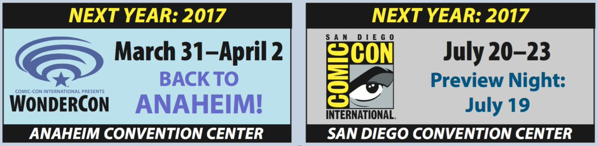 Closing time! You don't have to go home but you can't stay here!! See you in 2017 for @WonderCon and #SDCC2017! https://t.co/zCW7spQSsI