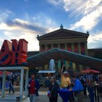 Delegates welcome party #DNC2016 #DemsInPhilly at Art Museum https://t.co/TqDPw6sSQb