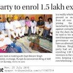 AAP to enrol 1.5 lakh ex-servicemen https://t.co/EWqWmejgeE