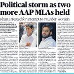 Political storm as two more AAP MLAs held https://t.co/cziVRZvTk1