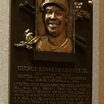 And here is #GriffeyHOF plaque now hanging in the Hall of Fame. @komonews #Mariners https://t.co/44764svTnb