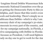 Hillary Clintons statement on resignation of @DWStweets: https://t.co/30k0LjBAOG