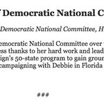 Hillary Clinton Statement on the Resignation of Democratic National Committee Chair Debbie Wasserman Schultz https://t.co/HkG9Ohufc2