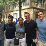 Our #HoyasAtDNC just ran into @TheDailyShow host @Trevornoah! #DemsInPhilly https://t.co/DhZZEuO7A3