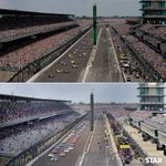 How much a difference two months makes… #Indy500 vs. #Brickyard400. 📷: @MattKryger https://t.co/heT0ps2cwb
