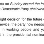 Bernie Sanders issues statement on DWS resignation https://t.co/Nt7rrLvsCq