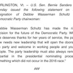 .@HillaryClinton & @BarackObama weighed in on @DWStweets resignation. Heres @BernieSanders reax: https://t.co/ZVmsLhzOm9