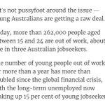 @samdastyari - the damage youth unemployment has to the individual & their community #auspol https://t.co/4PgoFtEqOi https://t.co/lztbNdrQ5R