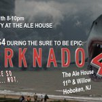 Attn #Hoboken: #Sharknado4 viewing party this Sunday. ALL DRAFTS $4 during premiere on @Syfy 8pm. 11th & Willow. https://t.co/LnwXhTtRtV