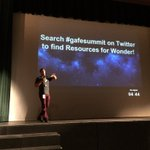 .@dhotler wants you to remember to wonder. #gafesummit Check out the #gafesummit https://t.co/VTDmkTfkBw
