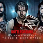 Who will walk out of #WWEBattleground with the @WWE Championship: @WWERollins @TheDeanAmbrose or @WWERomanReigns? https://t.co/dCtiXrN8ym
