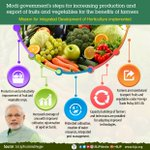 Modi government's steps for increasing production and export of fruits and vegetables for the benefits of farmers. https://t.co/9AOQfL1iHX