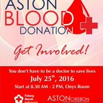 Ditunggu ya donor darahnya di @AstonCirebon hari ini. https://t.co/AKeWuIUWCs