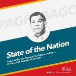 Today is the first SONA of President Rodrigo R. Duterte, 16th President of the Republic. #SONA2016 https://t.co/1vZ0KM05az