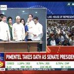 Senator Koko Pimentel takes oath as the new Senate President. #Du30SONA2016 https://t.co/5u2ESpq6Ou