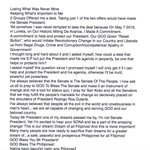"""While absent at the Senate, Sen. Cayetano, who had eyed the Senate Presidency, says he lost """"what was never mine"""" https://t.co/whHEX1FcH5"""