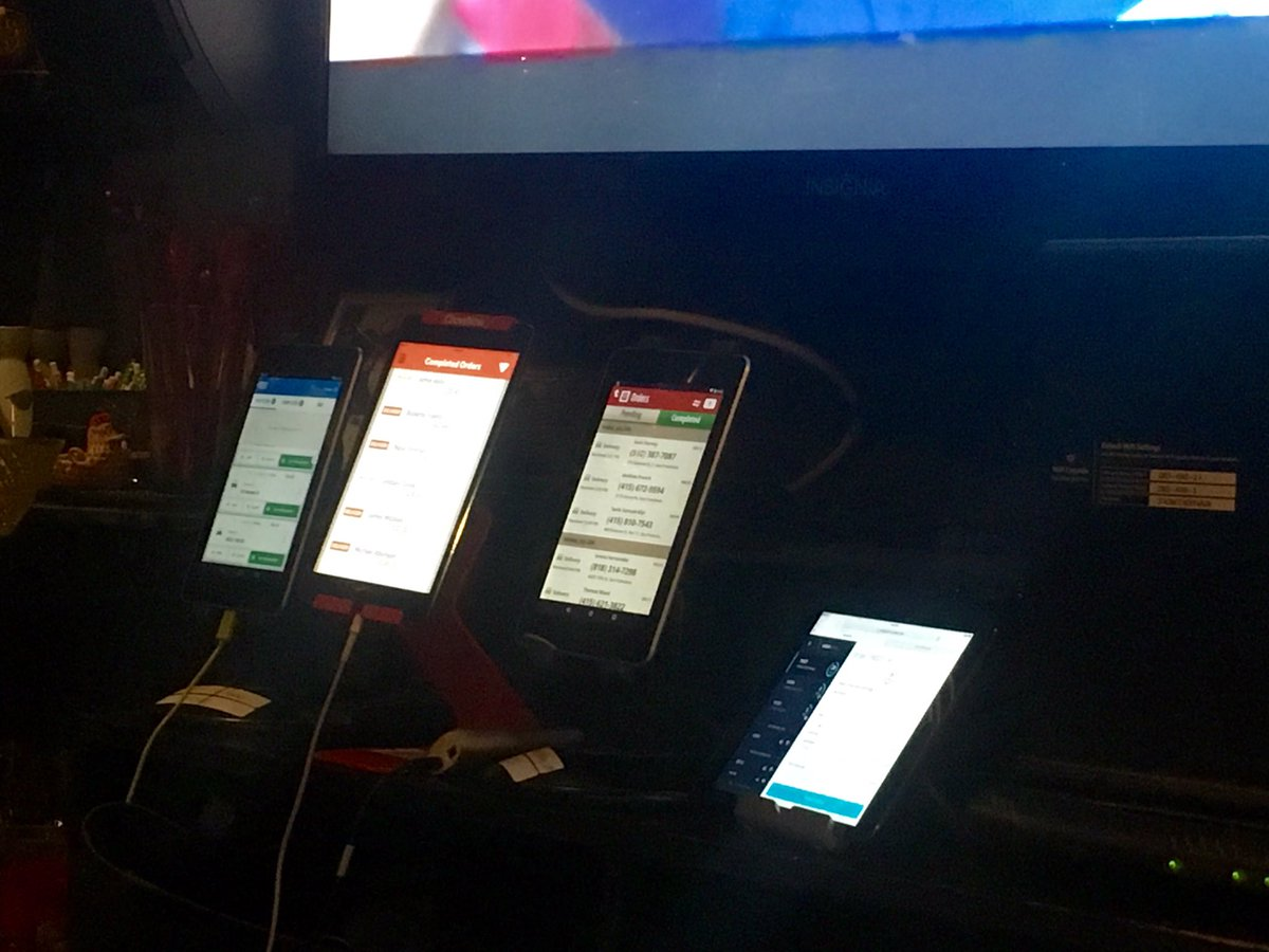 My local Thai joint has four iPads, each for a different on demand delivery company. The future is...complicated. https://t.co/715Z8b5Njo