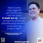 Dutertes self-written speech for #DU30UnangSONA made his communications secretary cry. https://t.co/5I0ZrocUa0 https://t.co/LgEz76tPge