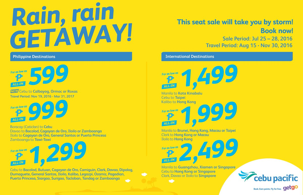 This new CEBSeatSale will take you by storm! Book now!