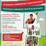 Free fun family event to celebrate #diversity in #Riverside #Cardiff @Radiocardiff @DiverseCardiff @TaffHousing ☺ https://t.co/9eiTGwglTQ