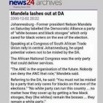 DA is party of white bosses & black stooges which only care about Blacks on eve of elections, Madiba said it. https://t.co/Ita1gaVaot