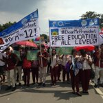 Students rally against K to 12 curriculum and for free education. #SONADu30 @inquirerdotnet | @__CLNx https://t.co/Ehi53PhYqd