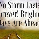 No storm lasts forever. Hold on... brighter days are on the way! #mondaymotivation https://t.co/fVLqJExEJL