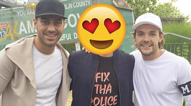 We're still super JEL! Jon Clark, Nathan Massey rub shoulders with THIS Harry Potter star!