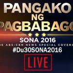 ONGOING: President Dutertes first SONA LIVE on ABS-CBN platforms: https://t.co/KRnPMrTSmn https://t.co/CvlGWajBdT
