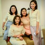#VPLeni & her daughters Aika, Tricia, & Jillian are attending #SONA2016. Photo from OVP https://t.co/NU0fumMbV0
