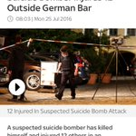 Gas explosion, troubled teen, Islamist apologists just run out of excuses. Syrian refugee suicide bomber in Germany. https://t.co/bcI1dxThvd