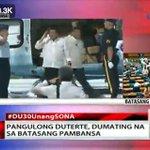 JUST IN: President Duterte now at Batasang Pambansa #DU30UnangSONA https://t.co/aiI57Q3tZ3