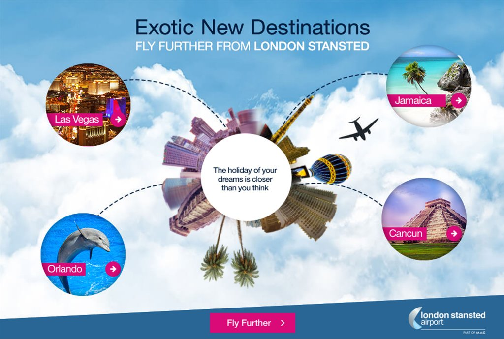 Discover exotic new destinations for your next dream holiday. FlyFurther from @STN_Airport: