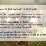 Theres still time to win a Meal for Two at the Brasserie! #Leeds #LoveLeeds #Competition https://t.co/5ZyU6EuUgA
