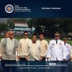 President Duterte walks towards Batasang Pambansa. #DuterteSONA #PartnerForChange https://t.co/fAcsddehSW