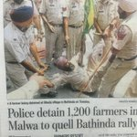 This is how Sukhbir Badal led Punjab police deal with farmers to quell Bathinda rally. #HoshiarpurVichCaptain https://t.co/izy65WY1P9
