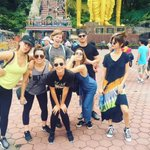 Selena and her friends at Batu Caves in Malaysia today! https://t.co/ZJGwmp9V8p