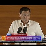 """""""Human rights cannot be used as an excuse to destroy our country."""" #SONA2016 #SonaNamanDigong https://t.co/VrMBe93QFz"""