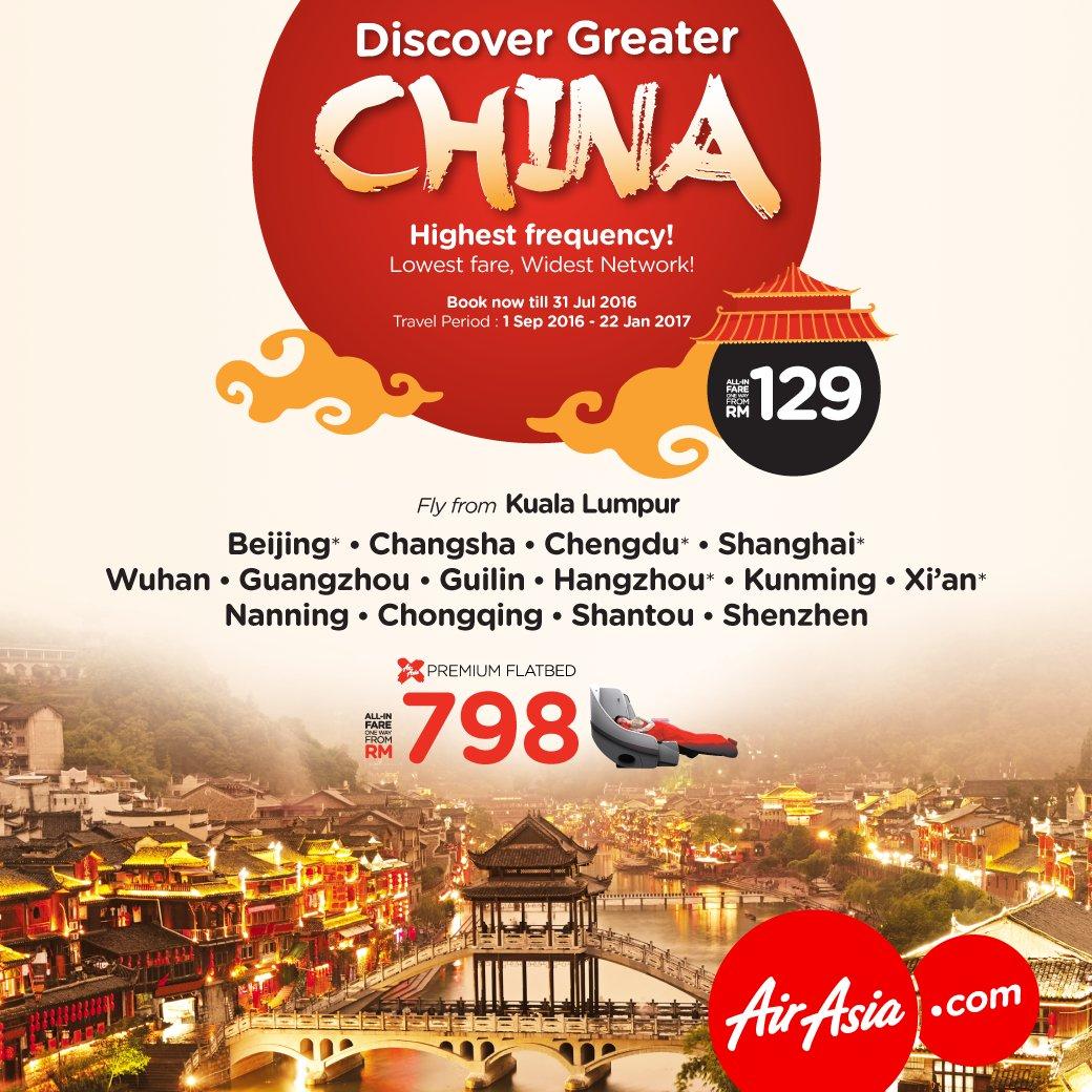 China bukan sekadar Beijing & Shanghai. Jom terokai lebih dari itu! Book @ & fly from RM129!