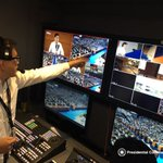 Director Brillante Mendoza directs the #DuterteSONA from behind the scenes. #PartnerForChange https://t.co/l1pyYuSfQU