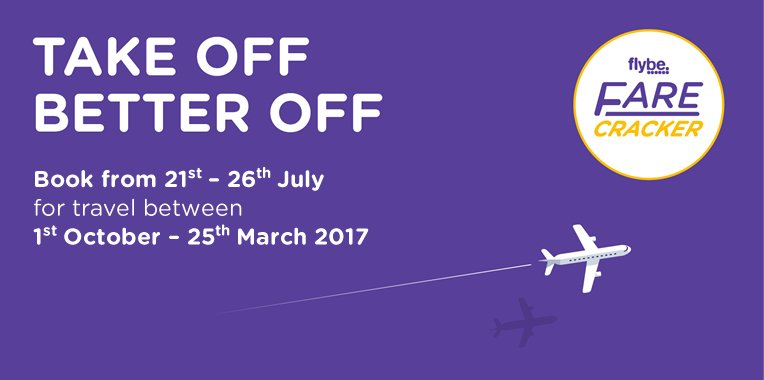 Lower fares on 25,000 Flybe flights with Farecracker! Book an early bird winter deal today!