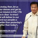 Both hailing from Mindanao, Sen Pimentel & Rep. Alvarez are the new Senate President and House Speaker, respectively https://t.co/HAcVprHfxO