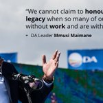 The DA is the only political party that continues to fight for the values Madiba stood for. #VoteForChange https://t.co/FgcBIvIz7d