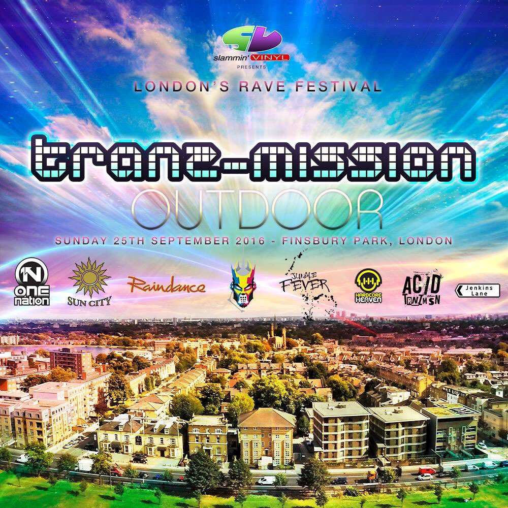 PLEASE RETWEET. @SlamminVinyl Tranz-mission Outdoor Rave Festival, Sunday 25th September 2016 #event #musicfestival https://t.co/3HSB0hPONQ