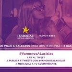 SORTEO VIAJE A ISLAS BALEARES @IBEROSTAR   #VamonosALasIslas  RT y sigue las condiciones.  ¡Mucha suerte! https://t.co/aQ6AKkTLrT