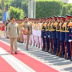 #COAS arrived Cairo,Egypt -2 days official visit.Guard of honour in Army HQ, met Chief of Staff&Def Min separately-1 https://t.co/bGXCwr83kW