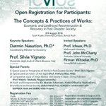 #infoevent Open registration for participants @ICAIOS VI - The Concept & Practice of Works 8-9 August 2016 #ICAIOSIV https://t.co/xWXtLIZYjm