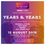 Cardiff are you ready to PARTY!! August 12th Coopers Field Years & Years https://t.co/HKpeuBUVzB