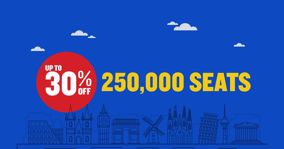 We've got a massive 2 day seat sale  Don't miss out. Book with